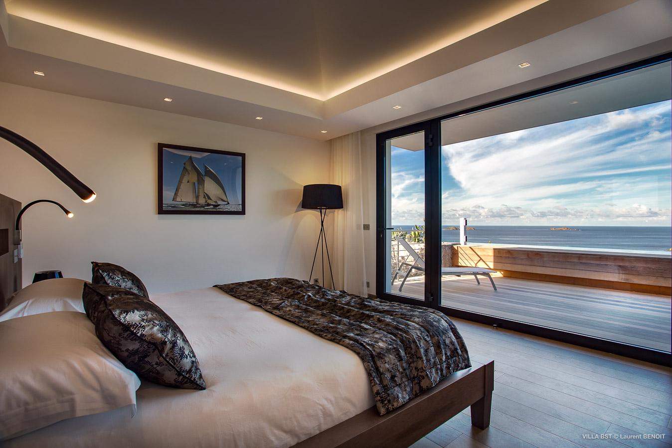 Design moderne chambre Villa Bastide