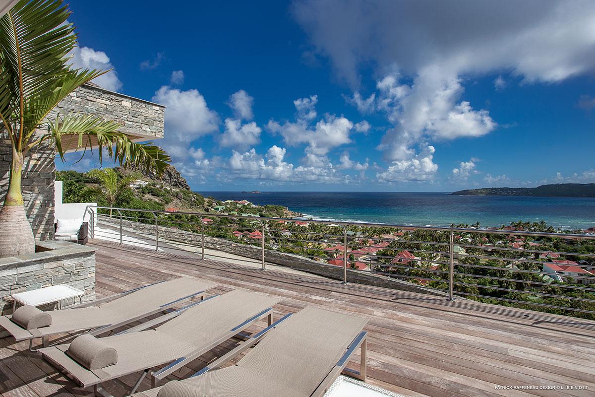 Villa avec vue mer St Barth