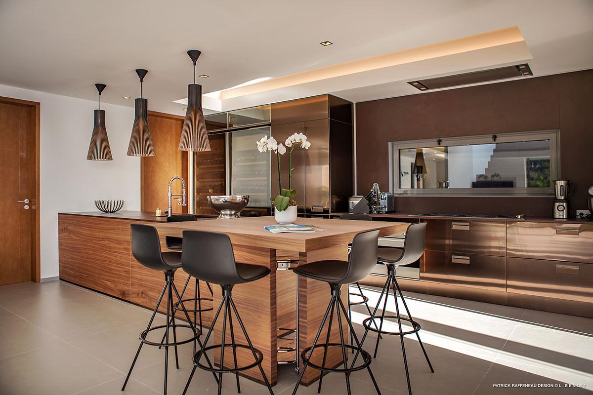 Cusine design Villa St Barth